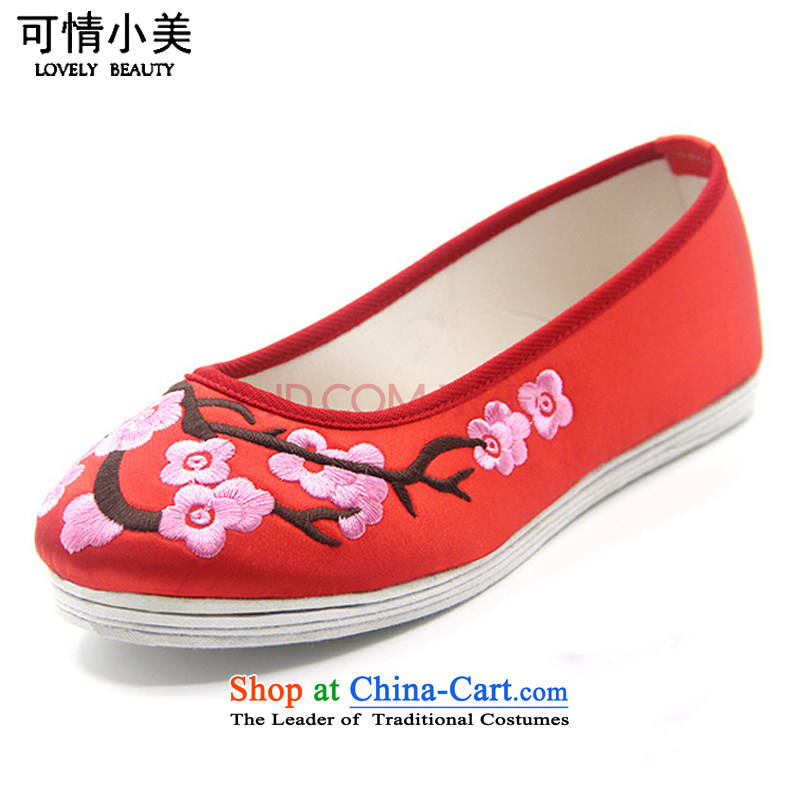 Is small and the ethnic Phillips-head embroidery mesh upper with thousands of women's shoesZCA2038 bottomRed39