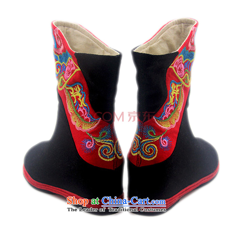 Is small and the old Beijing mesh upper for children of ethnic embroidery single boots ZCA06 black 37, is small-mi (LOVELY BEAUTY , , , shopping on the Internet