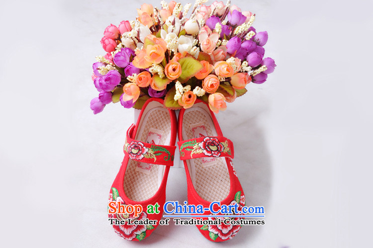 The United States is small children embroidered shoes mesh upper pure cotton ethnic Children Dance Shoe ZCA, T-10 Red 16 pictures, prices, brand platters! The elections are supplied in the national character of distribution, so action, buy now enjoy more preferential! As soon as possible.