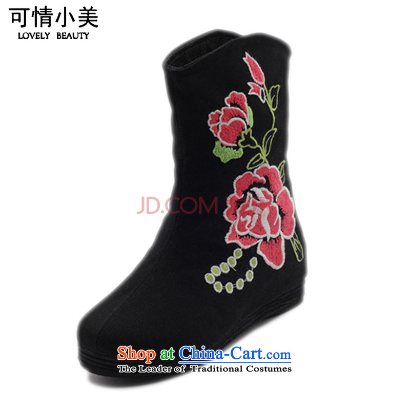 Is small and the old Beijing shoes of ethnic peony embroidery increased within the girl boots ZCA, H02  36 is a small green-mi (LOVELY BEAUTY , , , shopping on the Internet