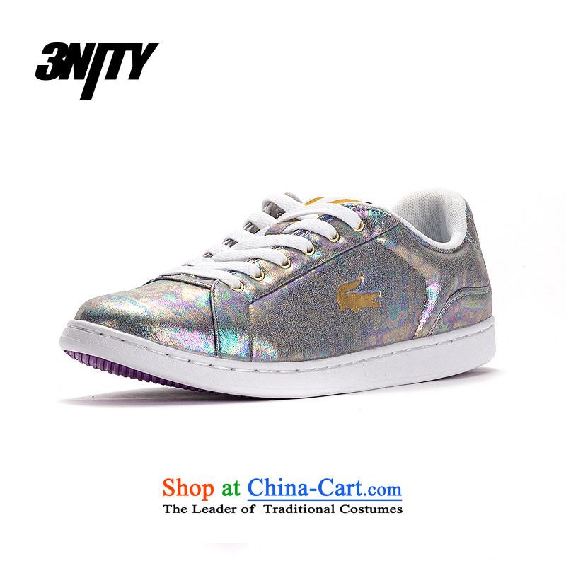 Lacoste_ Lacoste women shoes low colorful leisure shoes聽CALEXI T2E FP 38