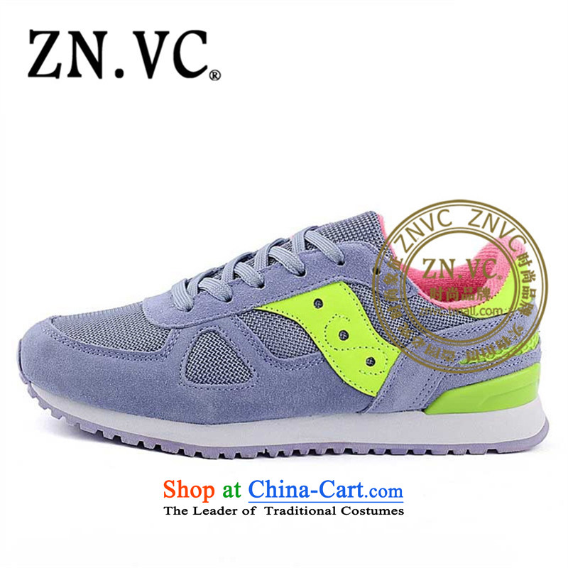 The new 2015 Autumn znvc shoes running shoe sport shoes with a flat bottom shoes autumn leisure shoes 3921st purple40
