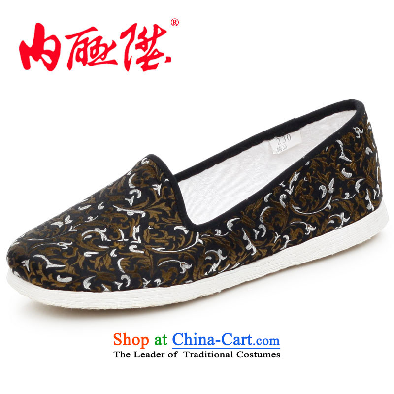Inline l mesh upper women shoes hand-thousand-layer encryption on the tabs on the bottom of the Spring and Autumn and stylish tapestries leisure old Beijing 8213 8213A mesh upper black 3-color 35