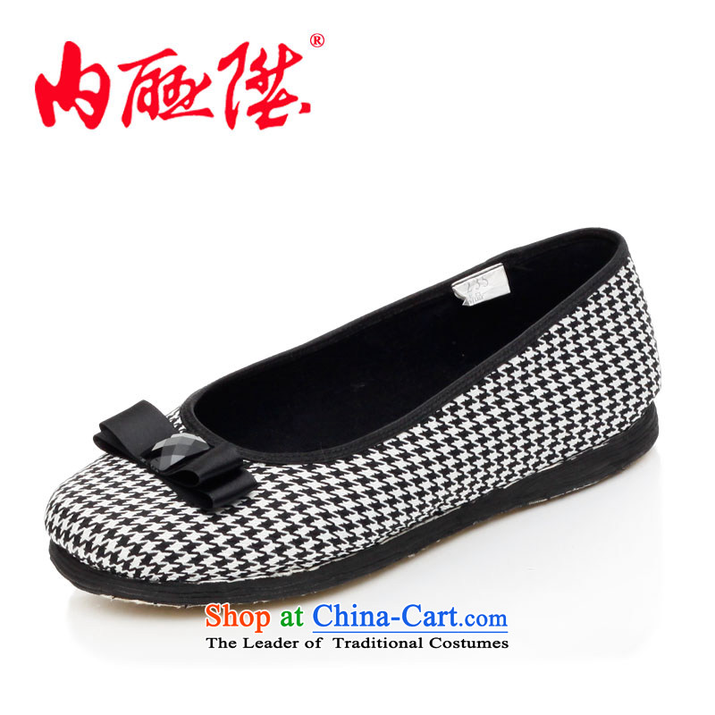 Inline l women shoes mesh upper hand-thousand-layer the sea in stylish and cozy? Old Beijing mesh upper 8706A checkered 36