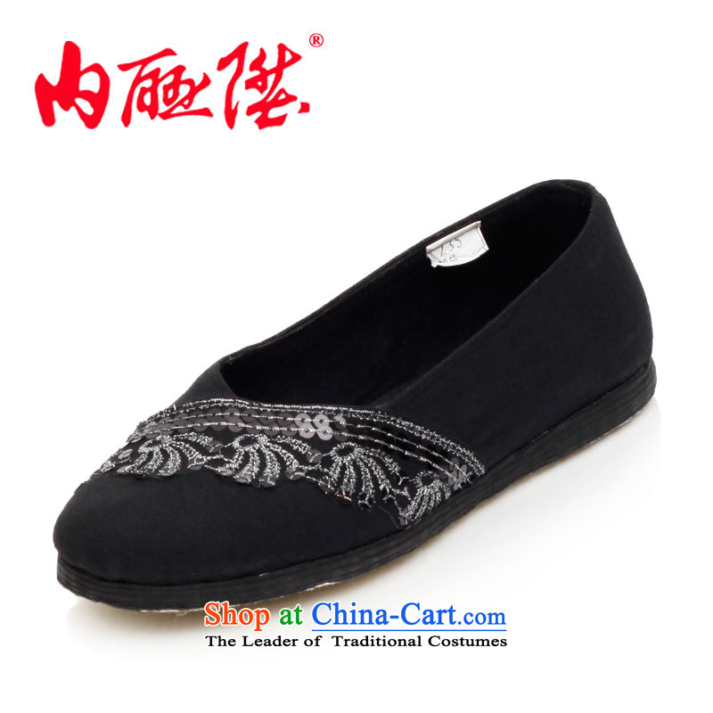 Inline l women shoes mesh upper hand bottom of thousands of wool lace sea mesh upper spring and autumn stylish and cozy$Old Beijing8702A mesh upperblack38