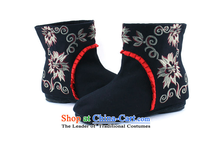 New Women's boots embroidered shoes trend then boots embroidered shoes of Old Beijing women shoes black37 mesh upper picture, prices, brand platters! The elections are supplied in the national character of distribution, so action, buy now enjoy more preferential! As soon as possible.