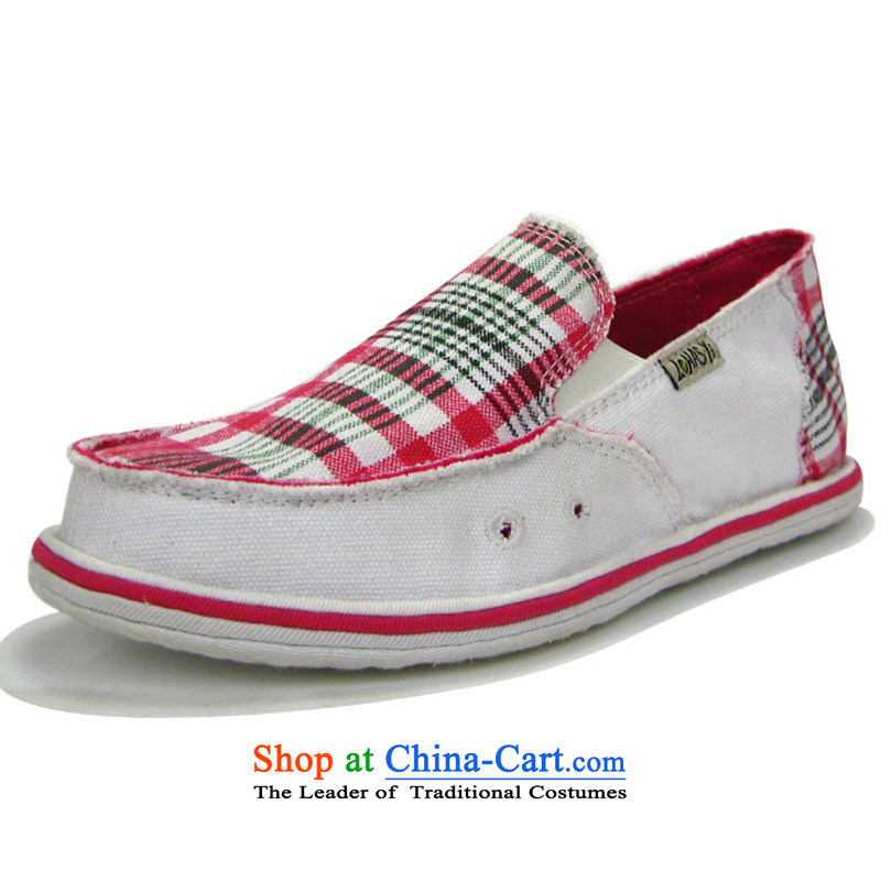 America and the girl-thousand-layer bottom manually canvas shoes stylish flat bottom pregnant women shoes mother shoe Old Beijing with flat women shoes comfort and breathability not tired feet spring and summer, lattices white40