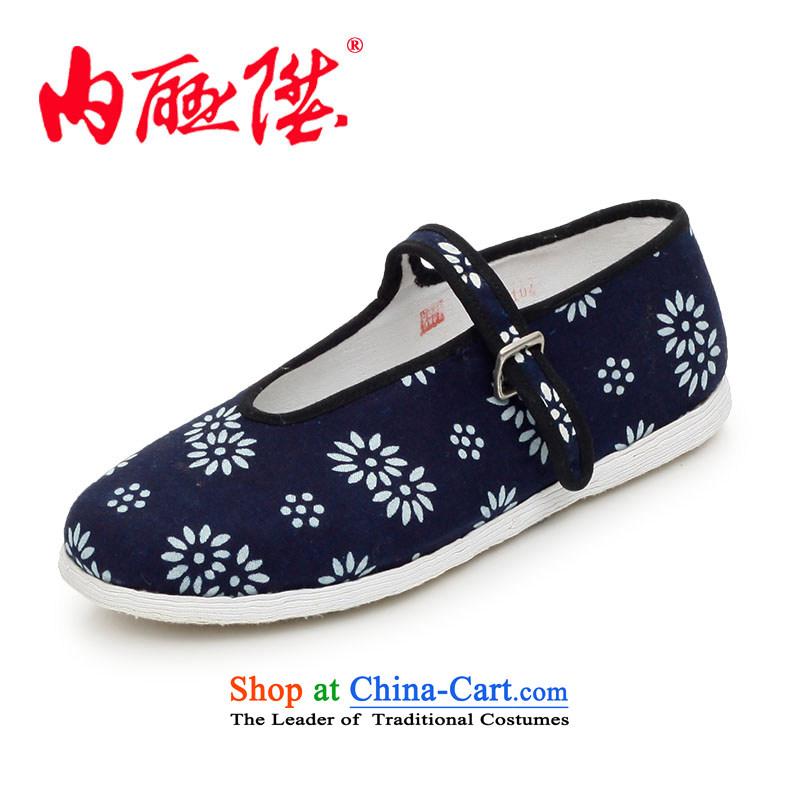 Inline l women shoes mesh upper hand-thousand-layer encryption bottom batik Mulan generation smart casual old Beijing8215A cloth, Floor36