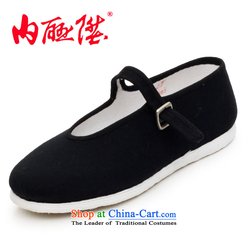 Inline l women shoes mesh upper hand bottom of thousands of dress?-Mulan smart casual shoes of Old Beijing聽8217A 8217A mesh upper black聽35