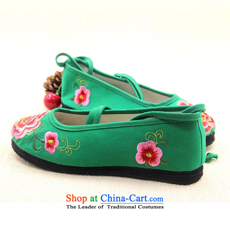 Is small and the old Beijing mesh upper end of thousands of ethnic coagulates peony embroidered shoes ZCA5021 Green 34 is small-mi (LOVELY BEAUTY , , , shopping on the Internet