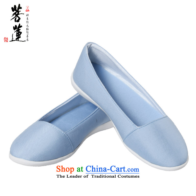 On the new 2015 Lin hand-painted retro linen cotton linen cloth shoes China wind lazy people shoes low state retro women shoes of 2,005- 35