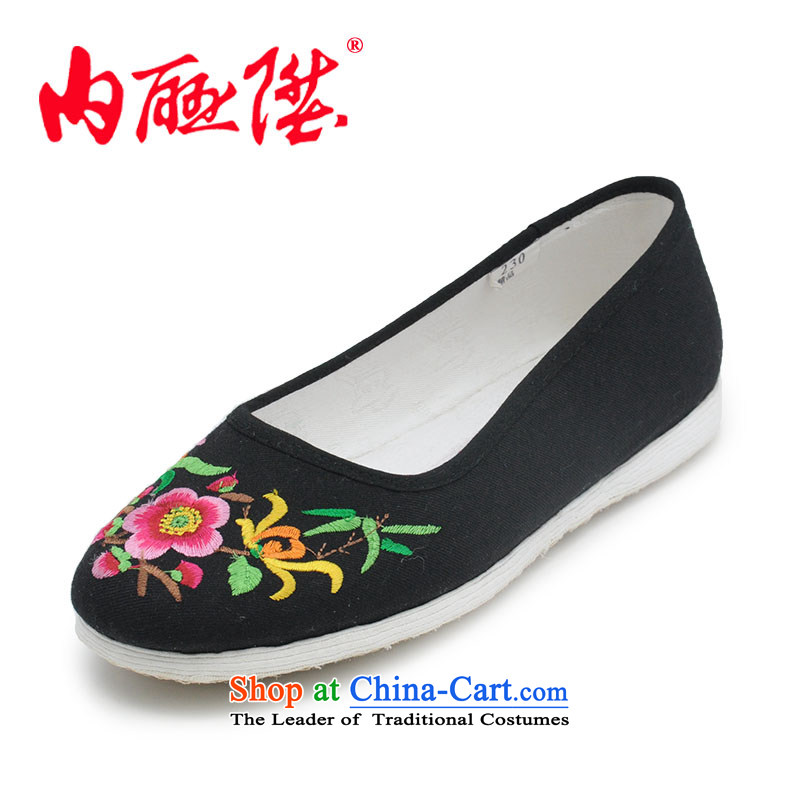 Inline l mesh upper women shoes plain manual cross the bottom layer of thousands of sea embroidered process in smart casual shoes of Old Beijing8419Amixed spend37 mesh upper