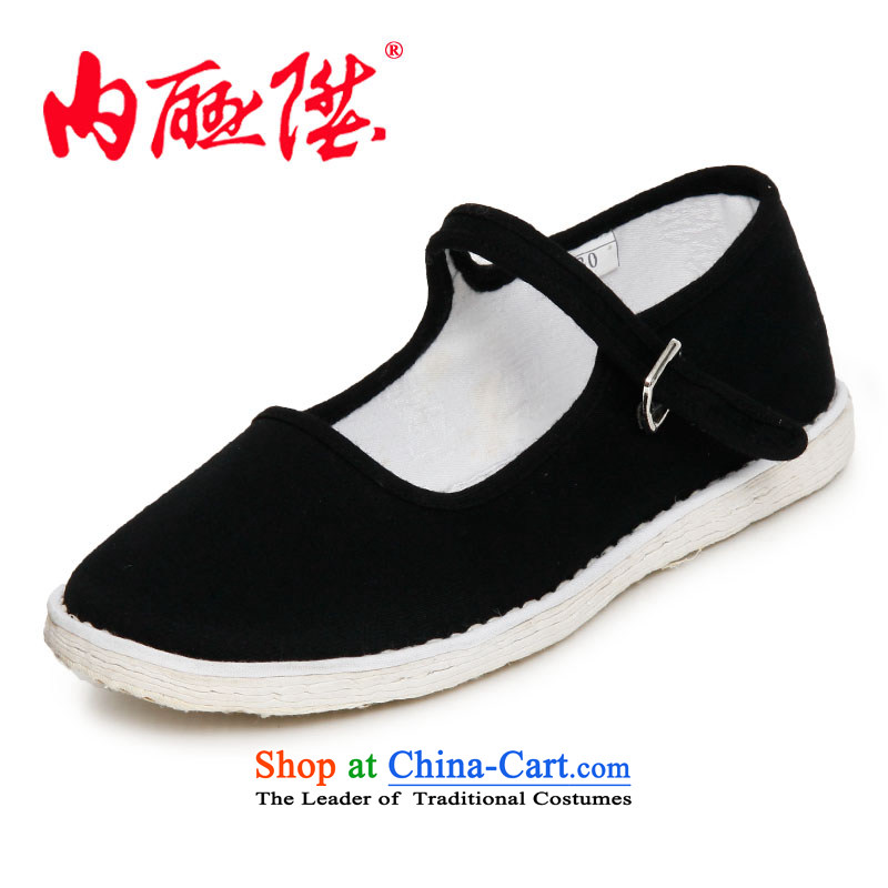 Inline l women shoes mesh upper hand bottom of thousands of dress? generation edge smart casual shoes of Old Beijing8627A mesh upperblack37