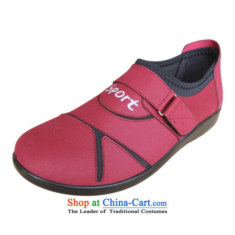 Yan Qing Beijing XQ/ mesh upper women shoes single shoe Korean hip trendy fashion shoes643Magenta36