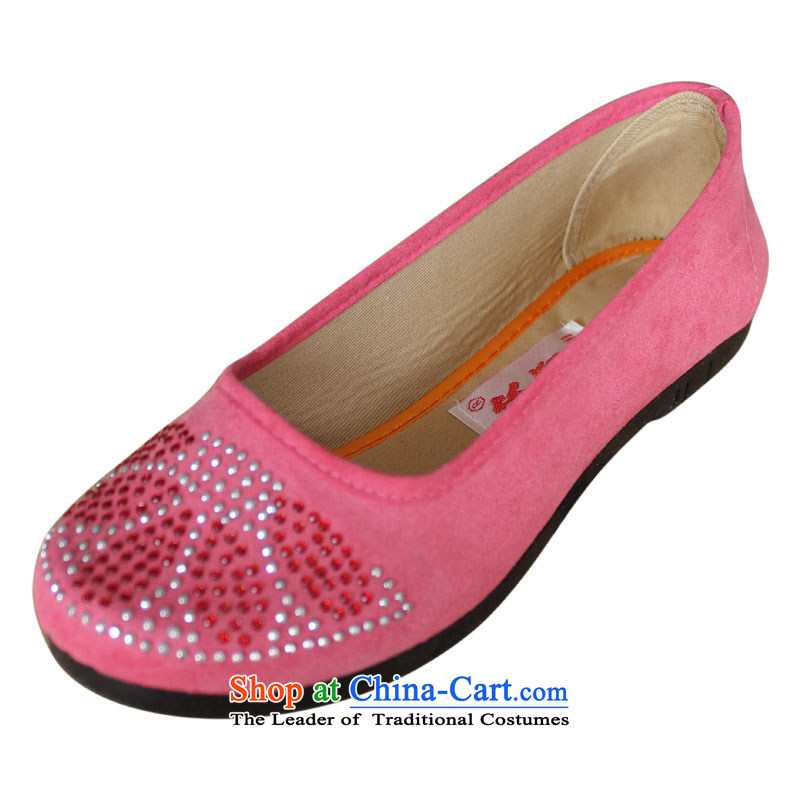 Welcomes the definition of Old Beijing mesh upper comfort and breathability mother shoe flat bottom casual women-mother shoe hot walking shoes 905 pink 38