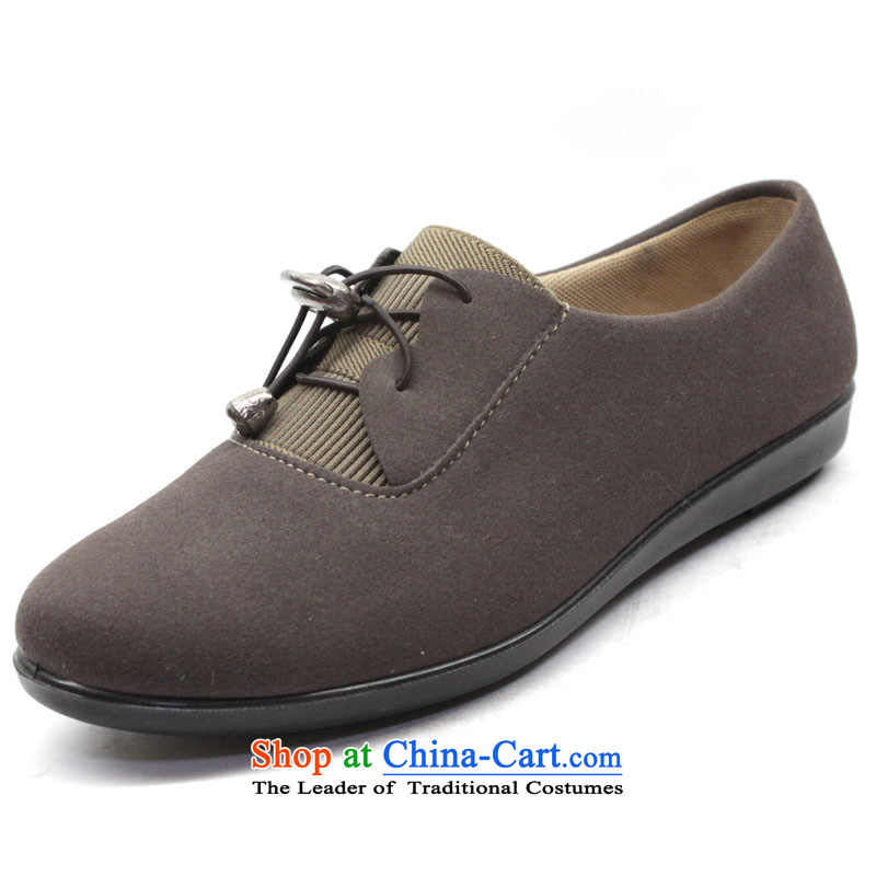 2013 new old Beijing shoes, casual women shoes everyday low tether breathable womens single shoe light anti-skid shoe smaller mother shoe YN902 coffee color 39