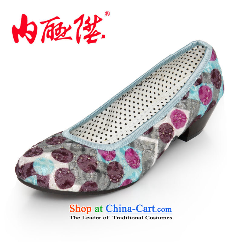 Inline l mesh upper women shoes, sea-yuan shoes, classy and stylish casual comfort and breathability of Old Beijing6676C mesh upperGreen38