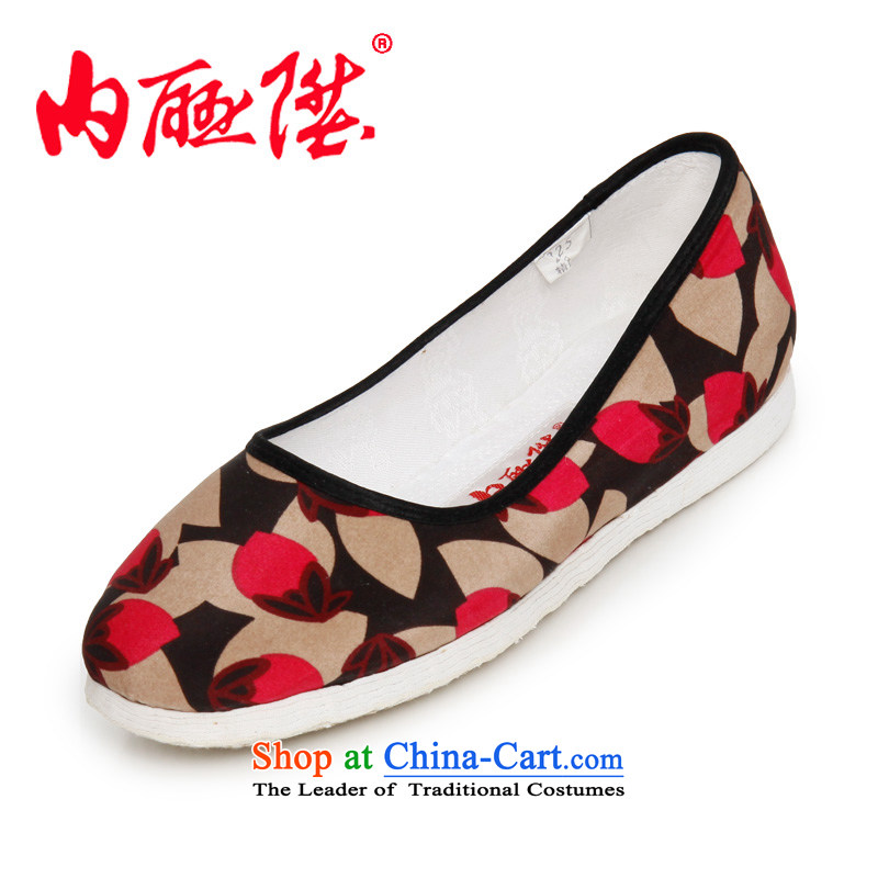 Inline l mesh upper hand-made shoes bottom layer encryption bottom thousands Magnolia sea smart casual$Old Beijing 8266A mesh upper toner spend 37