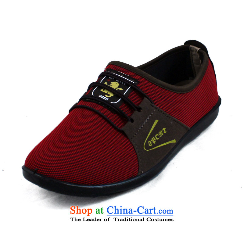 Naslin Ruixiang Old Beijing women's shoes autumn mesh upper with a flat bottom Ms. leisure shoes mother footwear in the older women shoes with soft, non-slip shoes elderly mesh upper shoes Red38