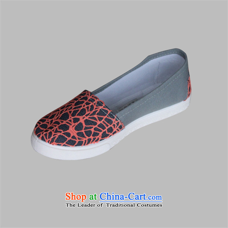 Charlene Choi this court of Old Beijing women's shoes mesh upper flat shoe soft bottoms mother shoe loose shoes during the spring and autumn mesh upper pin of the Driving shoes A22 Orange39