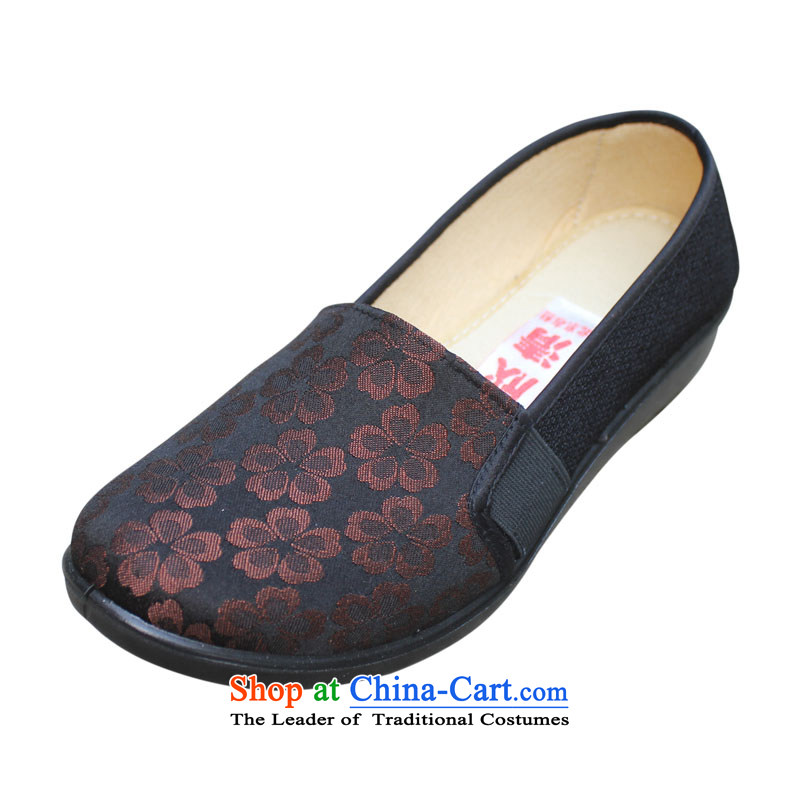 Welcomes the definition of Old Beijing mesh upper flat shoe women shoes comfortable soft bottoms stamp mother shoes, casual breathable mesh upper with large聽 6303聽Brown聽39