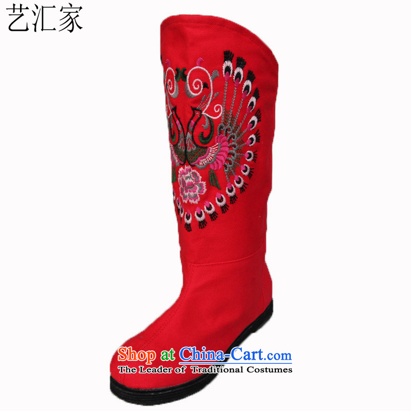 Performing Arts of thousands of bottom embroidered shoes of Old Beijing stylish shoe boots mesh upperPRESIDENTRed37