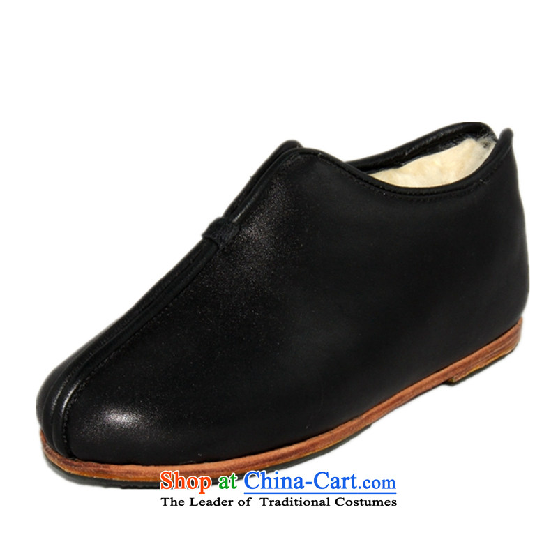 Tian Cheng Ramadan apply glue Leather Cotton Shoes 2556-5 wool female black 40