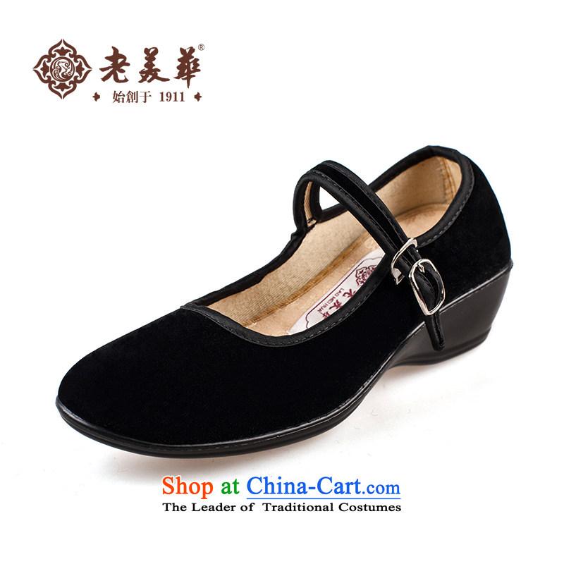 Mrs Tan shoes in the old older leisure shoesFang Quan Zheng Jin Fang Quan35 single black