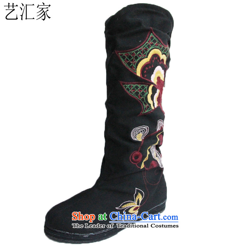 Mesh upper with old Beijing stylish embroidered shoes bottom of thousands of women shoesat theblack shoes38