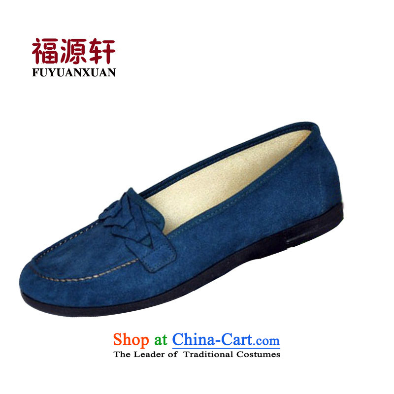 Mesh upper with old Beijing New Women's Shoe Bow Tie Baotou Leisure Comfort with blue 38 (the usual Flat 38 recommendations39)