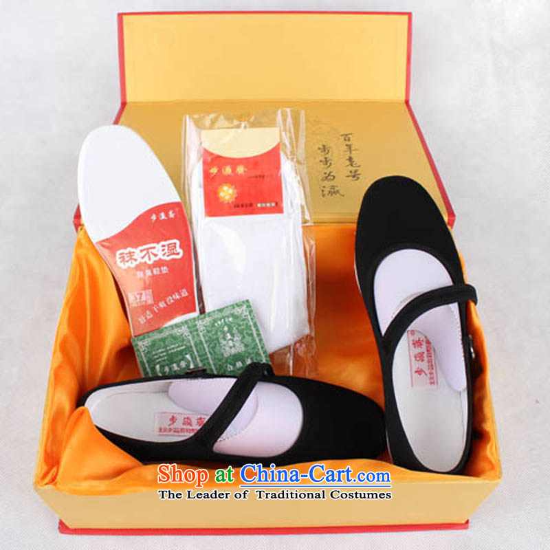 The Chinese old step-young of Ramadan Old Beijing mesh upper boutique gift manually bottom thousands of women shoes in the Mom Gifts workmanship of older generation of female single shoe black35