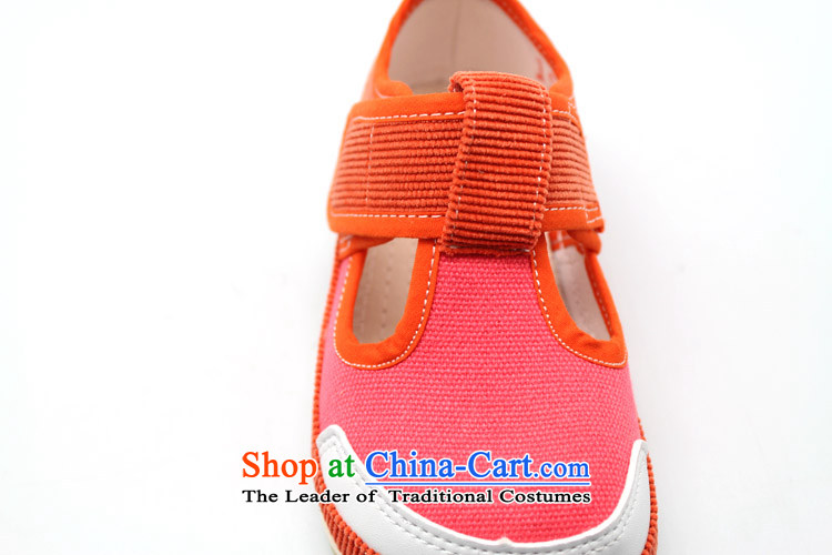Genuine old step-Fitr Old Beijing spring and autumn of the thousands of children walking shoes and stylish lounge' single shoe film Corduroy fabric spell single tri-color shoes orange20 yards /15cm picture, prices, brand platters! The elections are supplied in the national character of distribution, so action, buy now enjoy more preferential! As soon as possible.