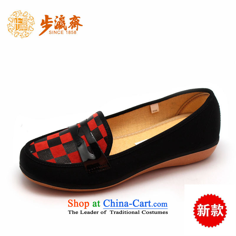 The Chinese old step-young of Ramadan Old Beijing mesh upper leisure wear to the Mother Nature of anti-skid lady's shoe B2348 womens single shoe black 40