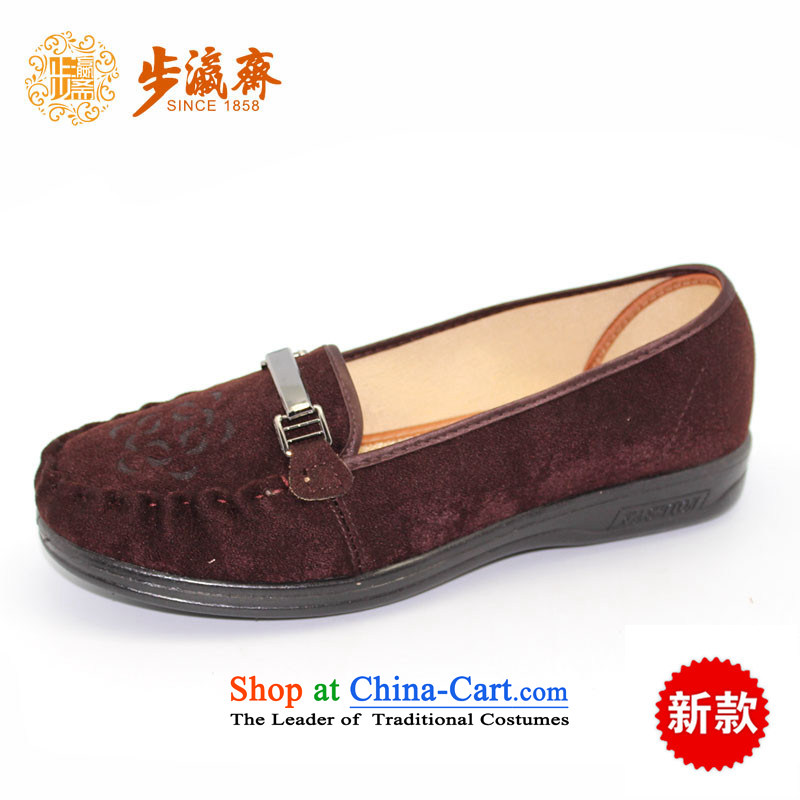 The Chinese old step-young of Ramadan Old Beijing mesh upper leisure wear to the Mother Nature of anti-skid lady's shoe13W15 womens single shoe making35