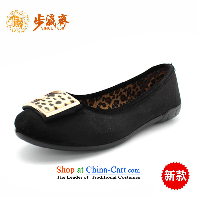 The Chinese old step-young of Ramadan Old Beijing mesh upper leisure wear to the Mother Nature of anti-skid lady's shoe BF-194 womens single shoe black 38