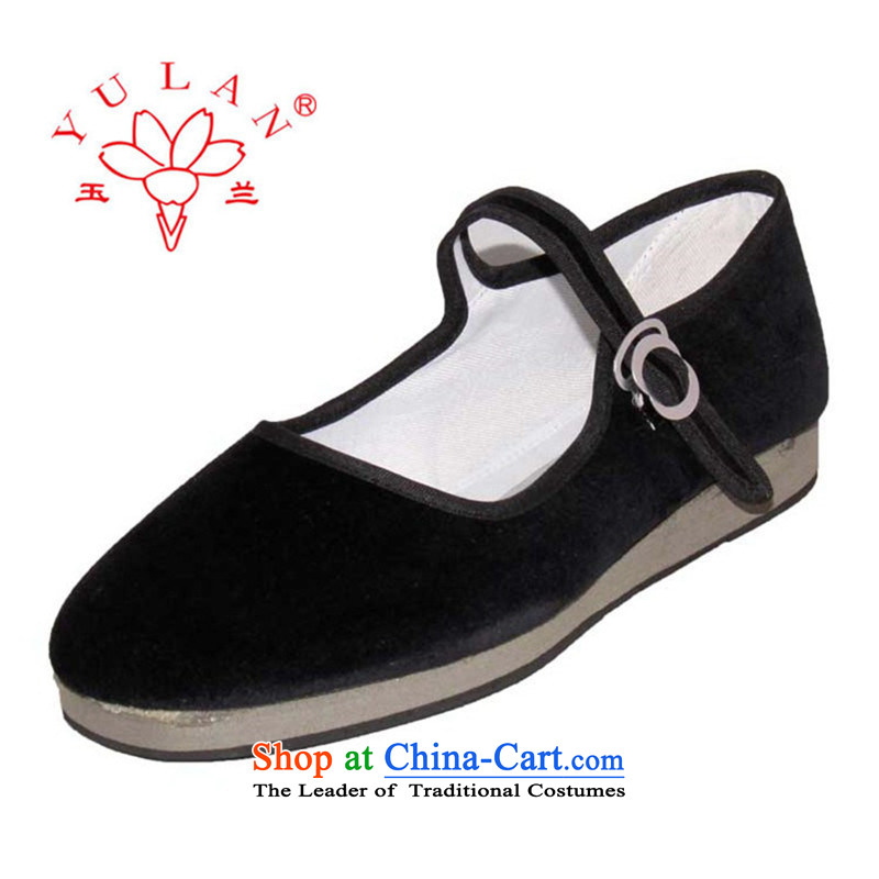 Magnolia Old Beijing mesh upper word traditional hooks older mother shoe 2312-15 Black 40