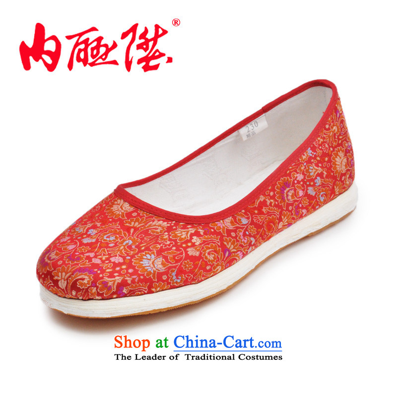 Inline l women shoes mesh upper hand thousands of bottom encryption tapestries sea in smart casual old Beijing manuallyload balance of 8205 8205G mesh upper Red Ground38