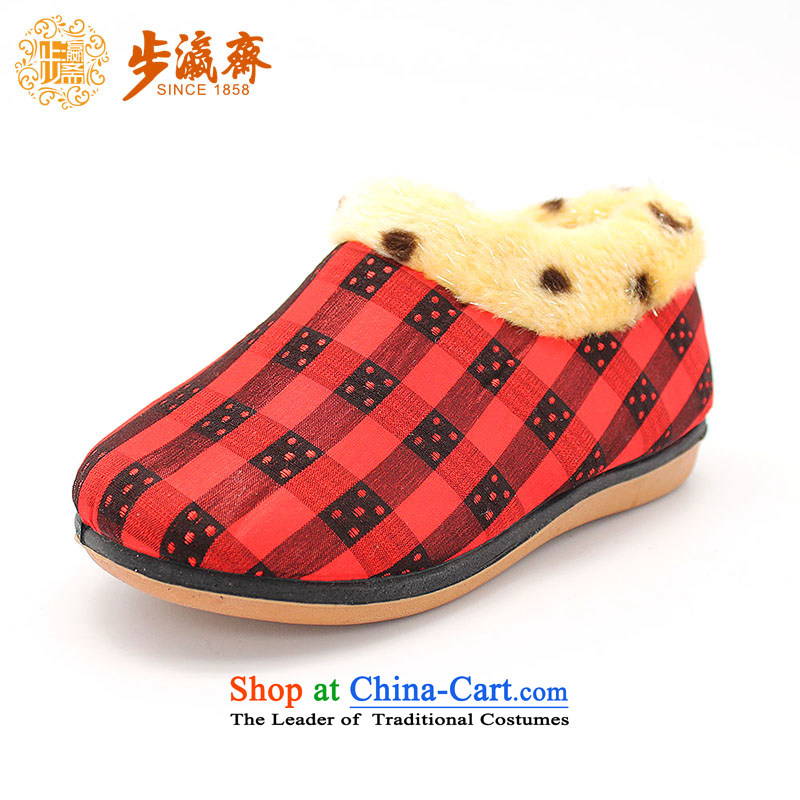 Genuine old step-young of Old Beijing mesh upper spring and autumn Ramadan_ Children shoes anti-slip soft bottoms baby children wear shoes聽SY30-3 Click and drag' Red聽26 _18cm code