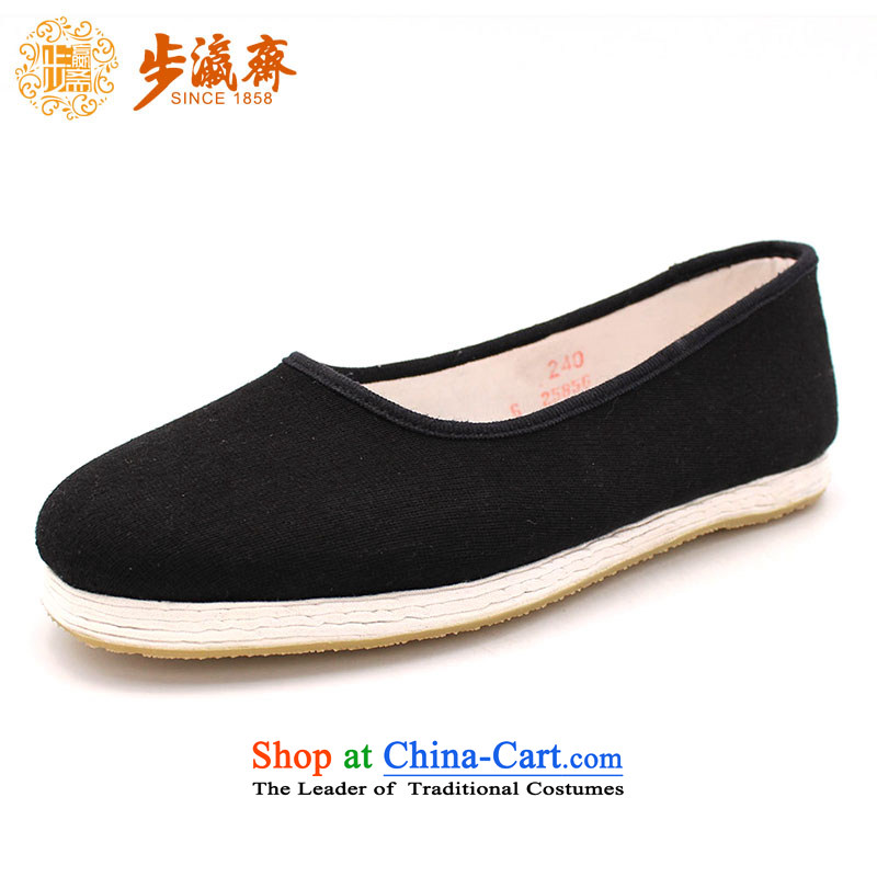 Genuine old step-young of Old Beijing mesh upper for Ramadan, thousands of bottom gift Mother stay temperament womens single shoe glue Chong Sea in full shoe black 38