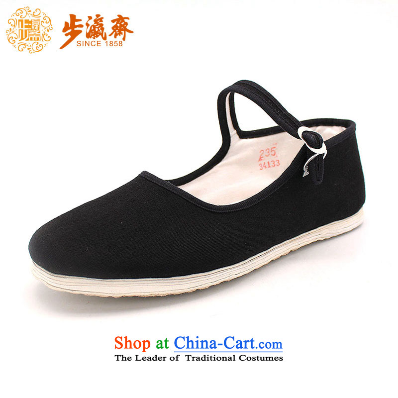 Genuine old step-young of Ramadan Old Beijing mesh upper boutique manually thousands of women shoes in the bottom of the gift with shoes thousands of older generation hedge women shoes black38