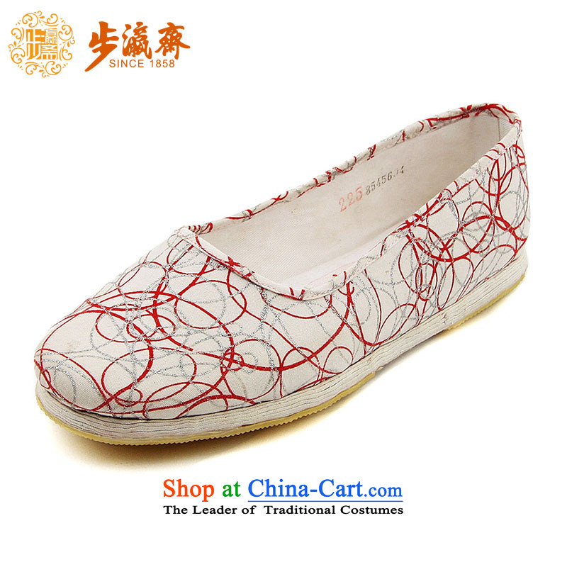 The Chinese old step-young of Ramadan Old Beijing mesh upper hand thousands ground leisure mother Lady's temperament shoes apply glue boutique A-1 women shoes Light Gray 35