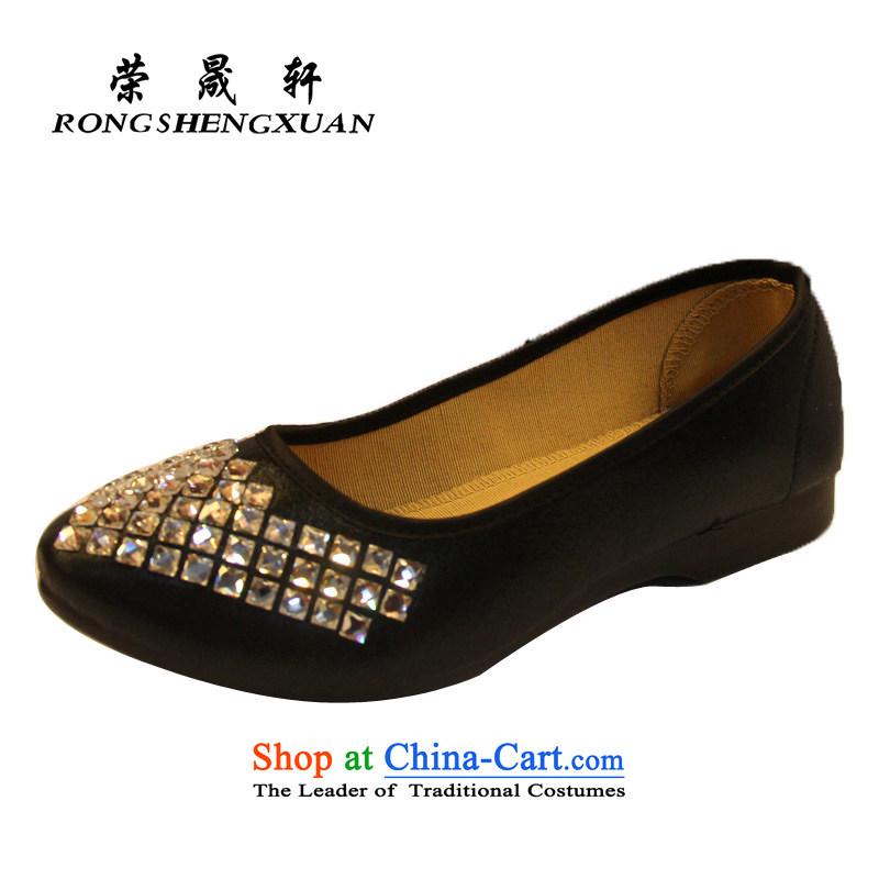 Yong-sung stylish light drill saliva Xuan women shoes of Old Beijing single shoe A8166-27 mesh upper black40