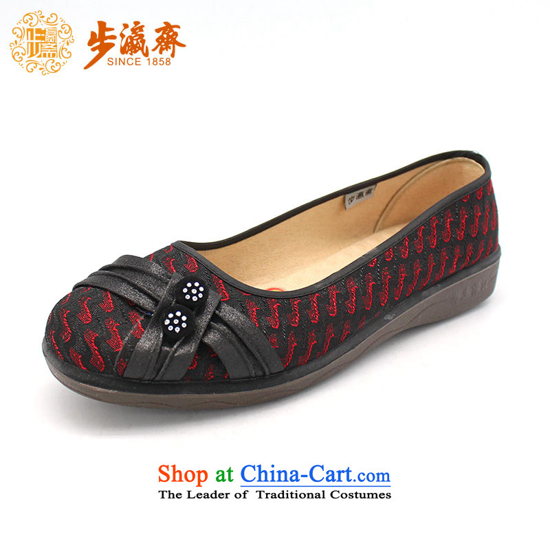 The Chinese old step-young of Ramadan Old Beijing New Anti-slip stylish mesh upper magnetic gift shoe soft bottoms womens single  women shoes F16-1 shoes black 35