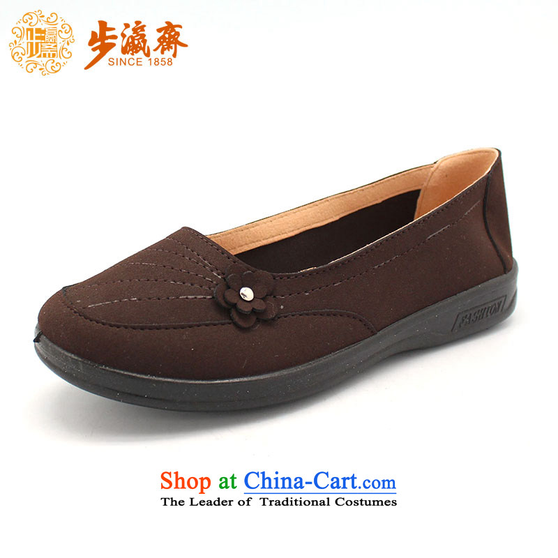 The Chinese old step-mesh upper spring Ramadan Old Beijing New) served by the mother stay temperament womens single shoe 3A5-1 shoes womens single shoe brown 39