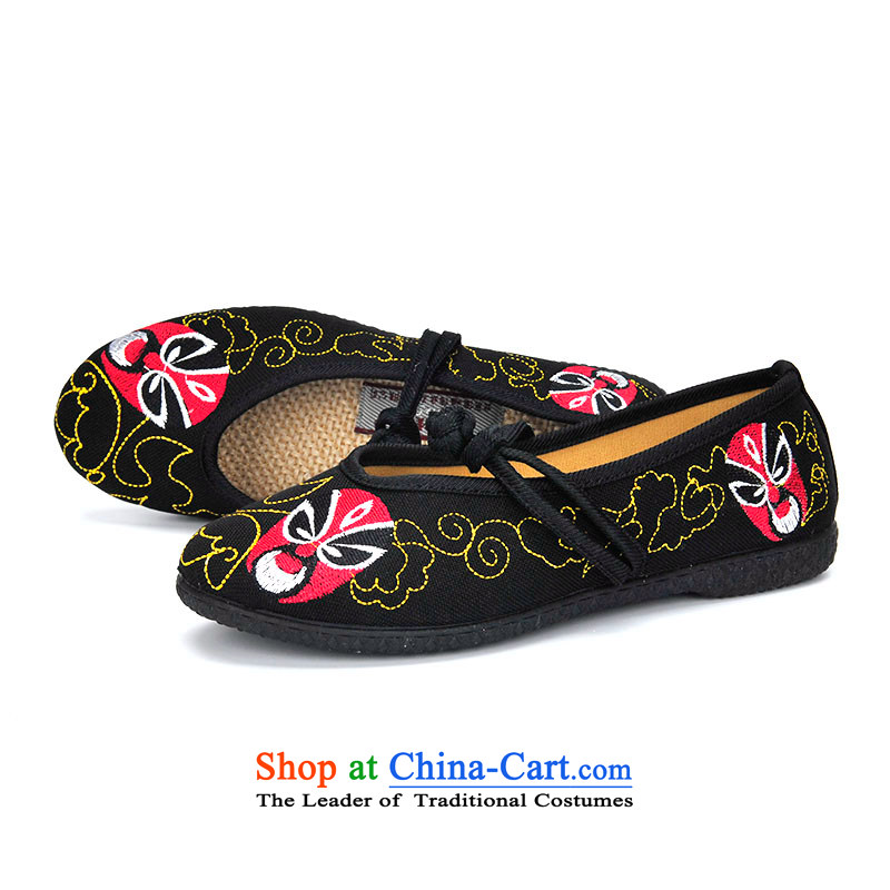 Better well old Beijing mesh upper spring, summer, autumn, Fourth Quarter shoes with soft, comfortable and relaxing Ms. traditional embroidered shoes of ethnic single shoe B289-7,8 black 36