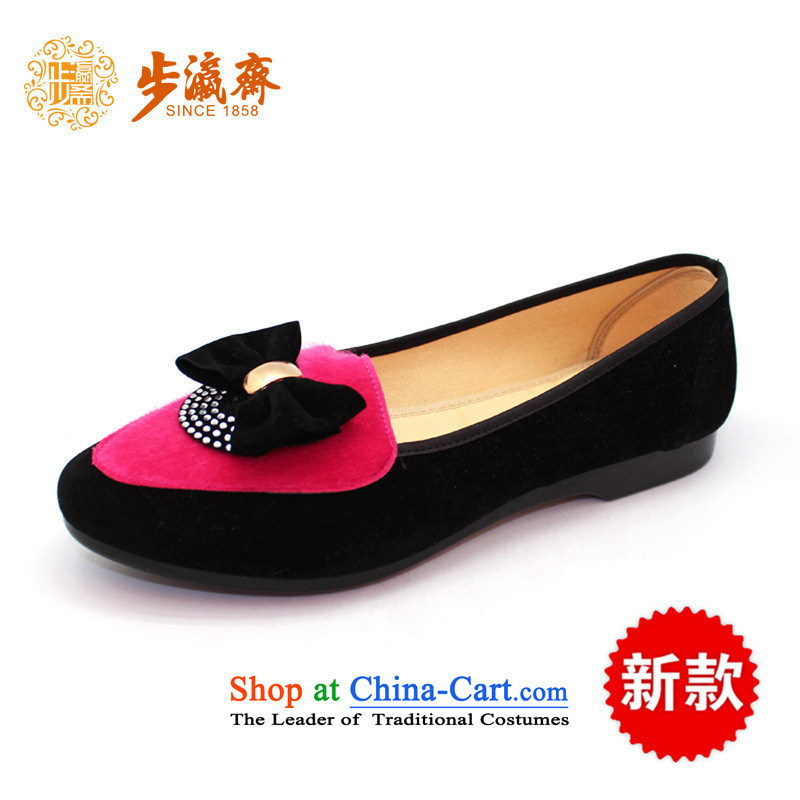 Genuine old step-young of Ramadan Old Beijing New mesh upper non-slip wear casual stylish soft bottoms womens singlewomen shoes C100-8 shoes pink38