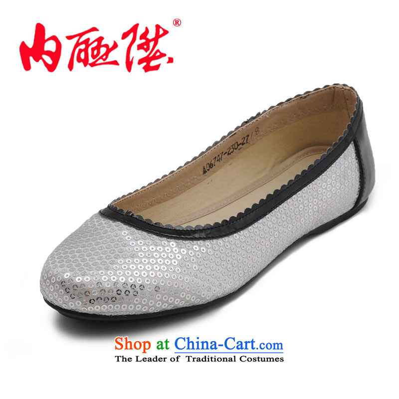 Inline l women shoes Ms. mesh upper spring and autumn in stylish and cozy sea old Beijing 6747 mesh upper Silver38