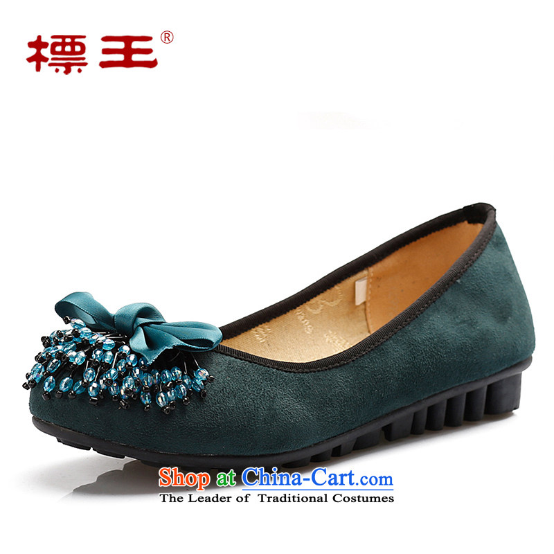 The old Beijing leisure shoes Wang flat shoe female Blue 36