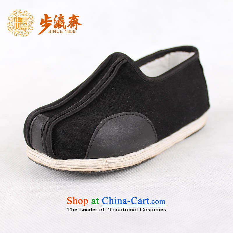 Genuine old step-young of Ramadan Old Beijing mesh upper hand bottom of thousands of children apply glue to non-slip stylish single shoe glue Child Flushing?' single black shoes sprinkle/19.5cm code 210
