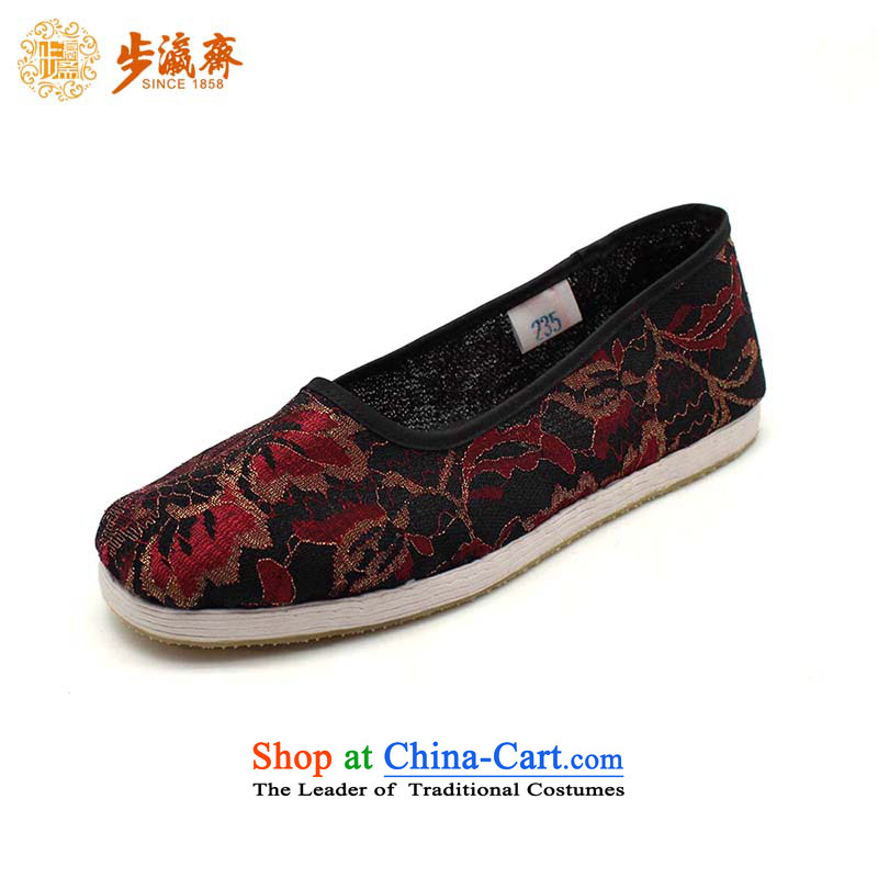 Genuine old step-young of Ramadan Old Beijing mesh upper hand bottom of thousands of anti-skid shoe wear sleeve gift womens single shoe glue red sea throughout the network, women shoes Red34